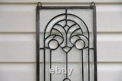 10 x 36 Stunning Handcrafted All Clear stained glass Beveled window panel