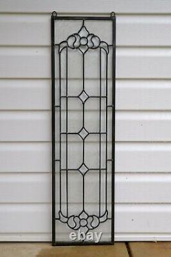 10 x 36 Stunning Handcrafted stained glass Clear Beveled window panel
