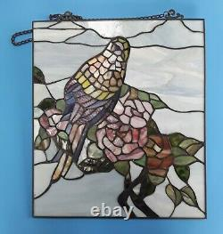 16 Handcrafted Stained Glass Window Panel Of Parrott