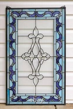 20.25 x 34 Large Handcrafted stained glass Beveled window panel