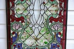 20.25W x 34H Handcrafted Beveled stained glass window panel