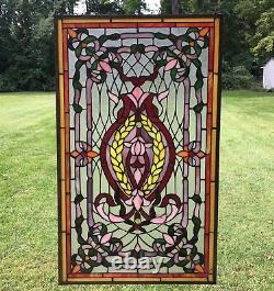 20.5 x 34.75 Stunning Decorative Handcrafted stained glass panel
