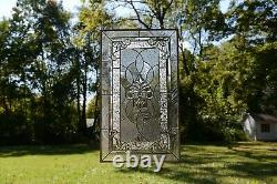 20 x 33.75 Stunning Handcrafted stained glass Clear Beveled window panel
