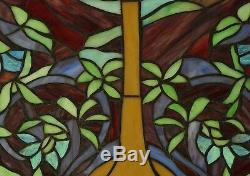 20 x 34 Large Handcrafted stained glass window panel Tree of Life