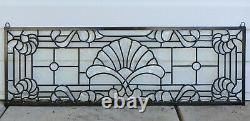 36 x 12 Stunning Handcrafted stained glass Clear Beveled window panel