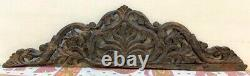 Ancient Wooden Leaves Vines Carved Door Panel Window Panel Hand Made Fine Panel