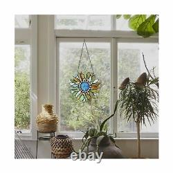Capulina Stained Glass Panel Handcrafted Modern Sunflower Stained Glass Windo