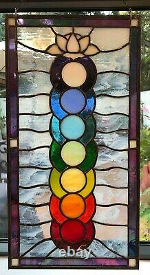 Chakra Stained Glass art, handcrafted