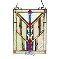 Handcrafted Stained Glass Tiffany Style Window Panel Art & Crafts ONE THIS PRICE