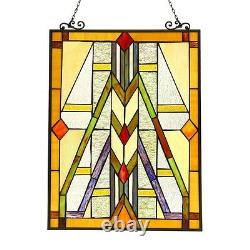 Handcrafted Stained Glass Tiffany Style Window Panel Mission LAST ONE THIS PRICE