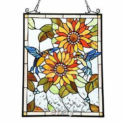 Handcrafted Tiffany Window Panel Hangings Art Capulina Stained Glass Window H
