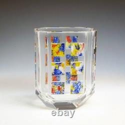 OAK Desna Hand Cut Paneled Crystal Glass Vase redesigned by Ray Lapys