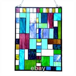 PICASSO Tiffany-style Glass Window Panel 24 Height Hand Crafted any Setting