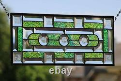 Power Of 3 20.5x 8.5 Beveled Stained Glass Windows- Handcrafted in the US