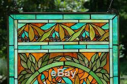 SOLD OUT! 20 x 34 deco girl Handcrafted stained glass Jeweled window panel