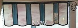 Set of 3 Beautiful & Unique Stained Glass Window Panels, HandCrafted 24x9 each