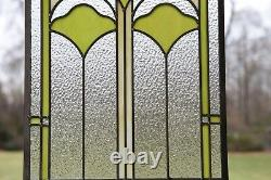 Sold out! 15.25 x 22.75 Handcrafted Ginkgo style stained glass window panel