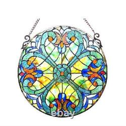 Stained Glass Chloe Lighting Victorian Window Panel 20 Diameter Handcrafted New
