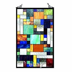 Stained Glass Chloe Lighting Window Panel CH1P811OM32-GPN 20X32 Handcrafted New