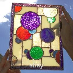 Stained Glass Circles Panel 8.5 X 11