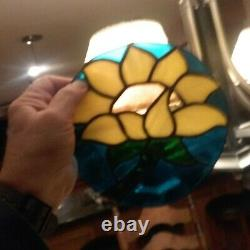 Stained Glass SUNFLOWER Hand Crafted USA
