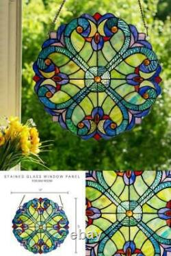 Stained Glass Window Panel Handcrafted Hanging Wall Art Decor Home Room Use 1 Pc