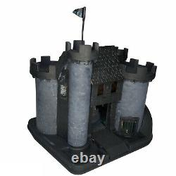 The Haunted Castle 17x13 Gothic Dollhouse with Custom Glass Window Panels Repaint