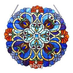 Tiffany Style Stained Glass Round Window Panel 21 Handcrafted ONE THIS PRICE