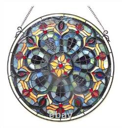 Tiffany Style Stained Glass Window Panel 20 Handcrafted LAST ONE THIS PRICE