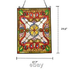 Tiffany Style Stained Glass Window Panel Victorian Handcrafted ONE THIS PRICE